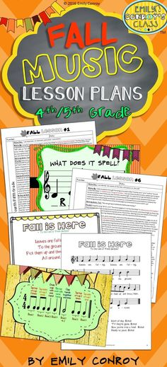 These lessons include 6 fall-themed music lesson plans for fourth or fifth grade music students along with 100 pages of resources! Each lesson includes the following sections: objective, warm-up, anticipatory set, model, guided practice, and independent p