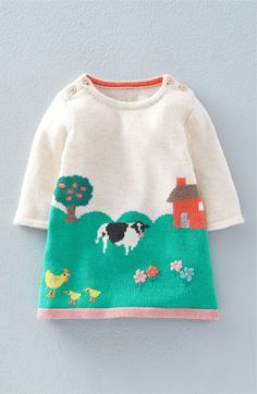 Mini Boden Intarsia Knit Sweater Dress (Baby Girls & Toddler Girls) available at #Nordstrom