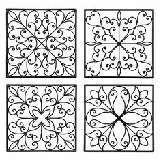 """Carrick 14"""" Square Wrought Iron Wall Art"""