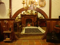 LOTR: Bag End Hobbit Hole Dollhouse: See my Dollhouses and Miniatures pinboard for more of Maddie Chambers amazing handmade dollhouse