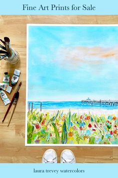 Shop fine art prints - Laura Trevey coastal watercolors