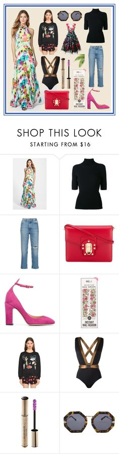 """""""Famina Miss Universe Style"""" by cate-jennifer ❤ liked on Polyvore featuring Eliza J, Valentino, M.i.h Jeans, Dolce&Gabbana, ncLA, Boutique Moschino, MOEVA, Christian Dior, Karen Walker and Marchesa"""