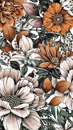 Flower Phone Wallpaper, Iphone Background Wallpaper, Cellphone Wallpaper, Molduras Vintage, Flower Aesthetic, Botanical Art, Pattern Art, Cute Wallpapers, Aesthetic Wallpapers