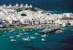 Book Greece (Athens - Mykonos - Santorini) Island Hopping Tour Package Online With Discount Price Santorini, Mykonos Grecia, Mykonos Town, Mykonos Island, Vacation Trips, Dream Vacations, Vacation Spots, Oh The Places You'll Go, Places To Travel
