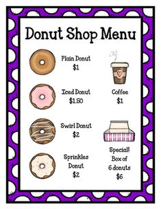 Donut Shop (Dramatic Play) by For A Rainy Day Fun Activities For Preschoolers, Preschool Lessons, Fun Activities For Kids, Preschool Classroom, Preschool Food, Preschool Ideas, Kindergarten, Dramatic Play Themes, Dramatic Play Centers