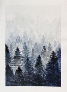 Hey, I found this really awesome Etsy listing at https://www.etsy.com/listing/463689285/misty-mountains-watercolor-art-print