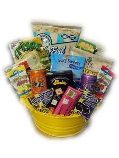 Healthy Movie Night Snack Basket