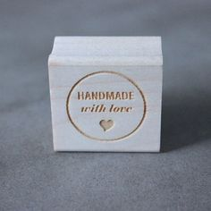 Handmade With Love Stamp, $16, now featured on Fab.