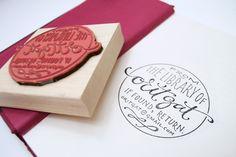 CUSTOM Ex Libris Stamp by plurabelle on Etsy, $110.00