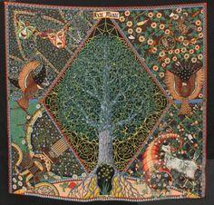 Hermes 'Axis Mundi' silk scarf