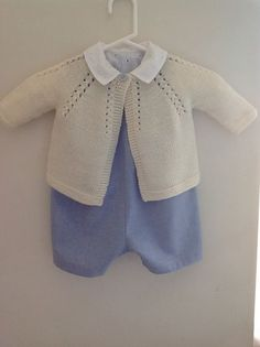 """Ravelry: 4 / Cardigan for baby pattern by Florence Merlin [   """"I like the whole outfit - Ravelry: Xtiand"""