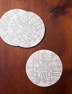 Holiday Twinkle Coasters - Pack of 4. $5.00, via Etsy.