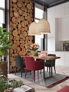 30 rustic dining rooms that exude sophistication # futuristic design . - 30 rustic dining rooms that exude sophistication - Diy Wood Wall, Rustic Wall Decor, Wood Walls, Wood Art, Futuristisches Design, Deco Design, Design Ideas, Rustic Design, Into The Woods