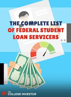 The list of federal student loan servicing companies, as well as their contact info, and information relating to problems and complaints. Federal Student Loans, Student Loan Debt, Student Loan Forgiveness, Make More Money, Money Management, Personal Finance, The Borrowers, Budgeting, Investing