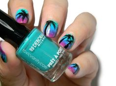 Nail art tutorial palm | Toxic Vanity