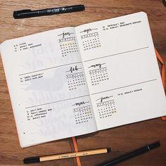 6-months preview of 2017 inspired by @writingbravely - love that simple layout ••• •• • #bulletjournal #bulletjournaling #bulletjournaljunkies #bulletjournallove #planner #planneraddict #plannercommunity #moleskine #bujo #bujojunkies #bujolove #doodle #lettering #typography #draw #showmeyourplanner #bujocommunity #plannergeek #calligraphy #handlettering #journaling #artjournal #minimal #blackandwhite #fitnessjournal #blog #weightlossjournal #leuchtturm1917 #creative #minimalism