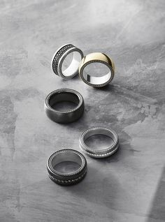 Modern rings for men with hints of iconic Cable.