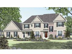 Eplans Country House Plan - Four Bedroom Country - 3219 Square Feet and 4 Bedrooms(s) from Eplans - House Plan Code HWEPL65404