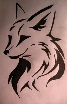 Simple Tribal Fox Tattoo Black tribal tattoos patterns