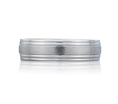Style BR0216 Scratch Finish Modern Mens Ring