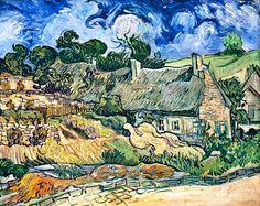 Titre de l'image : Vincent van Gogh - Chaumes de Cordeville à Auvers-sur-Oise