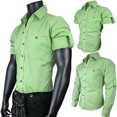 #PAULGOS #Trachtenhemd #Hemd #Trachten #Karohemd #Grün, #Größe:S - PAULGOS…