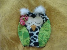 owl fleece rice bag foot warmer