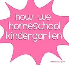 Our Kindergarten Homeschool Curriculum on http://www.feelslikehomeblog.com