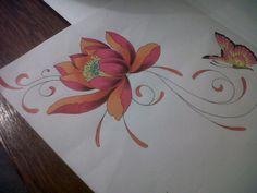 lotus swirl tattoo design by *tattoosuzette on deviantART