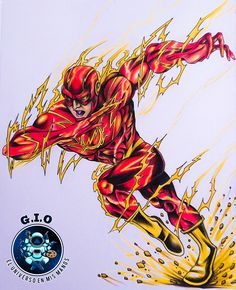 My own handmade version of the fastest Hero from DC! The Flash, My Drawings, Hero, People, Handmade, Student Discounts, Hand Made, People Illustration, Folk