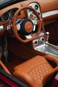 Luxury in brown Retro Cars, Vintage Cars, Car Interior Upholstery, Custom Car Interior, Sexy Cars, Fast Cars, Custom Cars, Luxury Cars, Cool Cars
