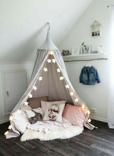 My Edit: A really cute idea for a child's bedroom that maybe has a spare corner. Reading corner?!