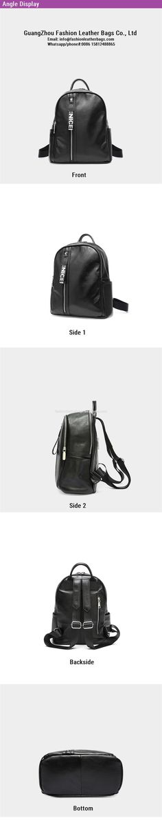 844e858a24 Women Daily bag Soft Leather Backpacks Fashion School Shoulder Bags FS536