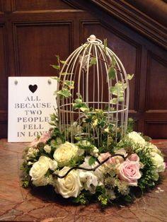 Gorgeous birdcage arrangement... Never fails to make an impression xxx