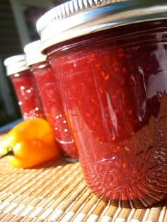 Raspberry Habanero Pepper Jam  Hot Damn by HungryDivaPantry. Homemade, made with only pure natural ingredients including locally grown berries. Because we support sustainability and community.  :o)