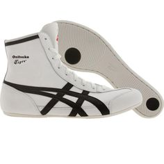 Asics Onitsuka Tiger Wrestling 81 shoes in white and black