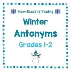 Children find two words that have opposite meanings. On page two of the worksheet, they use antonyms in sentences.  Worksheets are offered on two levels.  Can be used for differentiation, individualization, reading and spelling practice, games.