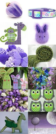 Spring in Purple and Green! by Laurie on Etsy--Pinned with TreasuryPin.com