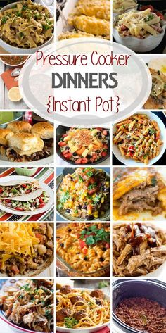 Pressure Cooker {Instant Pot} Easy Dinner Recipes! Tons of Easy Dinner Recipes for Your Pressure Cooker the Entire Family Will Enjoy!