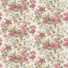 vintage flower patterns | LF1337 / 1 Silver Pheasant : Linwood Fabrics