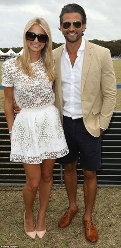 Summer loving: The couple's outfits perfectly matched the summer casual dress code for the day