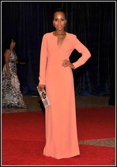 Kerry Washington 2012 White House Correspondents' Dinner #celebrities #celebrityfashion #redcarpet