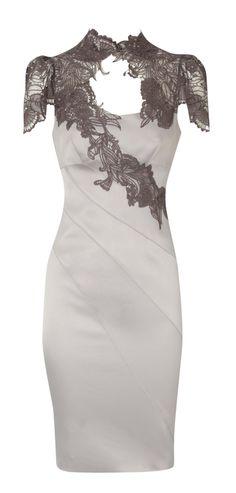 Lace applique dress....... Perfect getawa honeymoon dress for after wedding reception.