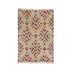 Large Carpet - Jute and Cotton - Christmas