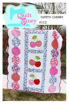 Yummy Cherry PDF Quilt Pattern by QuiltStory on Etsy, $9.00