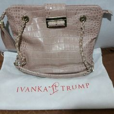 IVANKA TRUMP BAG Great condition. Clean inside out. Blush Pink/Nude with gold hardware. Ivanka Trump Bags Shoulder Bags