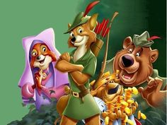 Robin Hood Disney Characters   Wallpaper Description: Robin Hood and the other characters (Maid ...