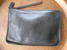 Vintage Coach Dark Espresso Brown clutch purse Made in New York, 1970