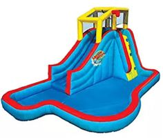 Spring & Summer Toys Banzai Slide 'N Soak Splash Park Constant Air Water Slide Inflatable Water Park, Best Outdoor Toys, Outdoor Games For Kids, Outdoor Play, Splash Park, Toddler Trampoline, Bouncy House, Pool Rafts, Backyard Furniture