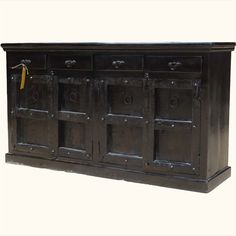 Fresno Solid Wood 3 Drawer Storage Sideboard | Buffet cabinet ...